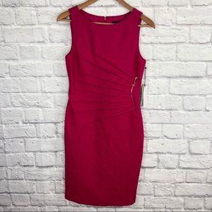 NWT Ivanka Trump Pink Floral Textured Sheath Dress
